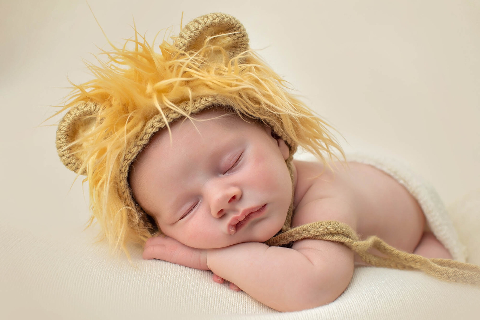 Newborn Photo lion hat